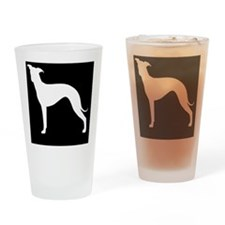 italgreyhoundpatch Drinking Glass