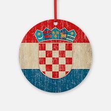 Vintage Croatia Round Ornament
