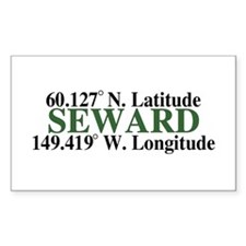Seward Latitude Rectangle Decal
