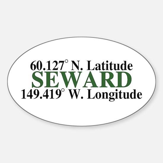Seward Latitude Oval Decal