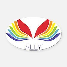Ally Oval Car Magnet