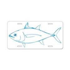 Tuna is Art Aluminum License Plate