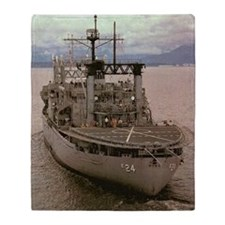 uss pyro large framed print Throw Blanket