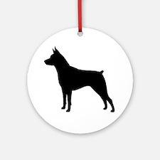 Min Pin Silhouette Round Ornament