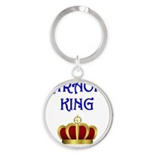 Karaoke King Round Keychain