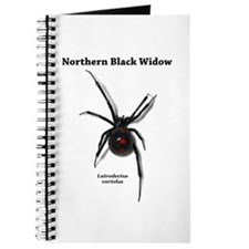 Northern Black Widow with text Journal