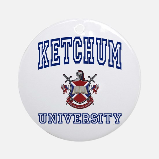 KETCHUM University Ornament (Round)