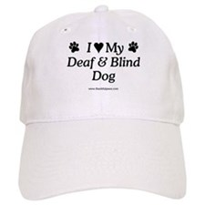 Love My Deaf & Blind Dog Baseball Cap
