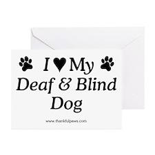 Love My Deaf & Blind Dog Greeting Cards (Package o