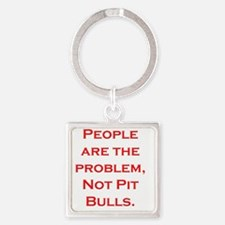 People Problem Larger Square Keychain