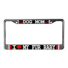 Dog Mom License Plate Frame