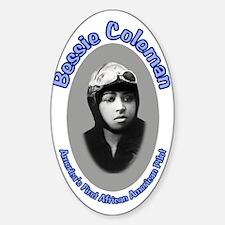 Bessie Coleman Oval Decal
