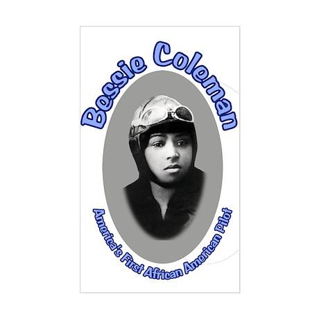 Bessie Coleman Rectangle Sticker