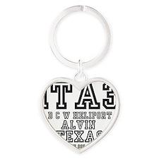 TEXAS - AIRPORT CODES - 1TA3 - D C  Heart Keychain