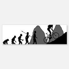 Mountain-Biking Bumper Bumper Sticker