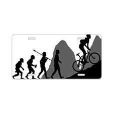 Mountain-Biking Aluminum License Plate