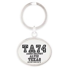 TEXAS - AIRPORT CODES - TA74 - AMOCO Oval Keychain