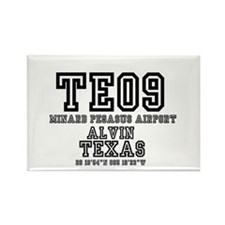 TEXAS - AIRPORT CODES -TE09 - MIN Rectangle Magnet