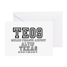 TEXAS - AIRPORT CODES -TE09 - MINARD Greeting Card