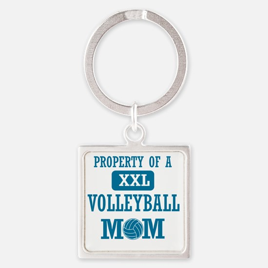 volleyball mom t shirts mom Square Keychain