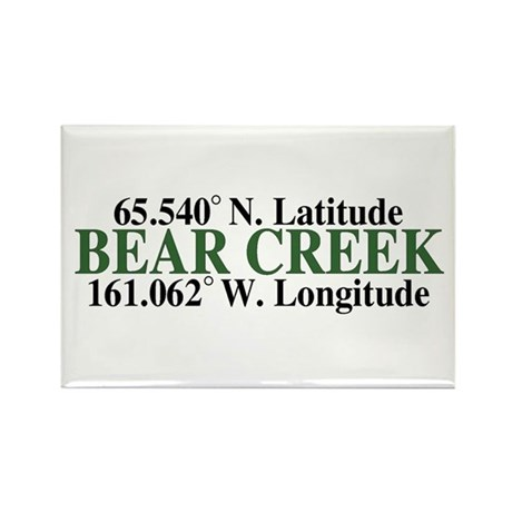 Bear Creek Latitude Rectangle Magnet (10 pack)