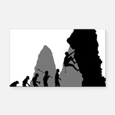 Rock-Climbing-02 Rectangle Car Magnet