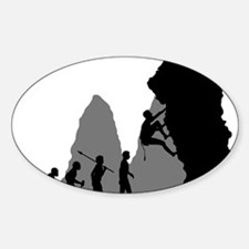 Rock-Climbing-02 Sticker (Oval)