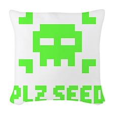 Plz seed Woven Throw Pillow