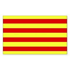 Catalunya Flag Rectangle Decal
