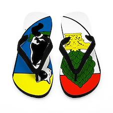 Augsburg crest Flip Flops