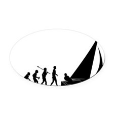 Sailing2 Oval Car Magnet