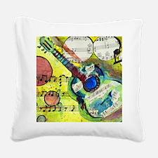Heidelberg Guitar Square Canvas Pillow