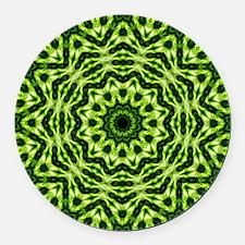 Kiwi Kaleidoscope Round Car Magnet