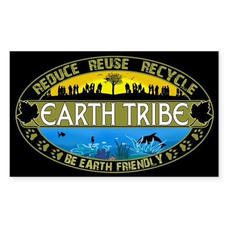 Earth Tribe Sticker (Rectangle)