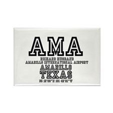 TEXAS - AIRPORT CODES - AMA - RIC Rectangle Magnet