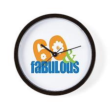 60th birthday & fabulous Wall Clock