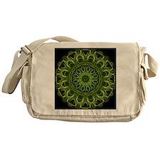 Green Flower kaleidoscope Messenger Bag