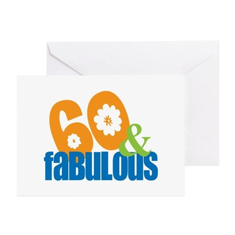 60th birthday & fabulous Greeting Cards (Package o