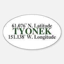 Tyonek Latitude Oval Decal
