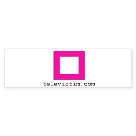 """pink square"" Bumper Sticker"