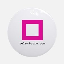 """pink square"" Ornament (Round)"