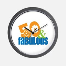 50th birthday & fabulous Wall Clock