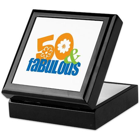 50th birthday & fabulous Keepsake Box