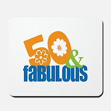 50th birthday & fabulous Mousepad
