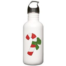Candy Cane / Green Bow Water Bottle