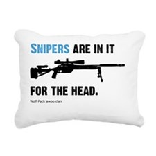 Snipers pwn Rectangular Canvas Pillow