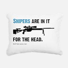 Snipers pwn Rectangular Canvas Pillow