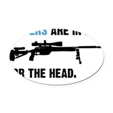 Snipers pwn Oval Car Magnet