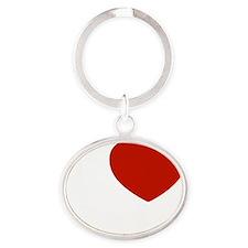 I love Kaia Oval Keychain
