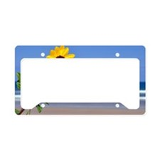 Beach Flower License Plate Holder